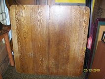 Awesome Antique solid Oak? wood table very large dbl base in Chicago, Illinois